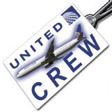 United Airlines Boeing 767-400 Crew Tag